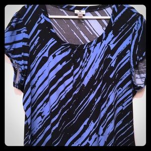 Short sleeve silky dress shirt Size2X fits like XL