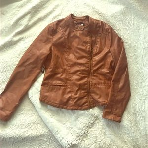 Boy Meets Girl Jackets & Blazers - Brown faux leather jacket
