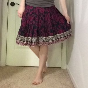 Austin Clothing Co. Dresses & Skirts - Navy and Pink Patterned Skirt