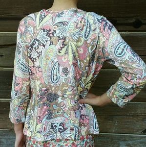 Talbots Sweaters - Retro Multi Colored Cardigan by Talbots Small
