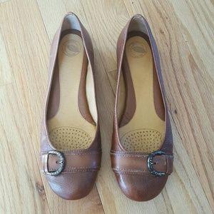 Nurture by Lamaze Shoes - Nurture Leather Lark Brown Flats