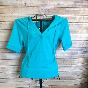 venus Tops - ( NWOT) Turquoise hoodie