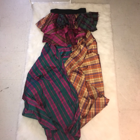 Dresses & Skirts - Plaid High Low Maxi Skirt