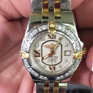 BREITLING STARLINER  18kt GOLD & STAINLESS WATCH