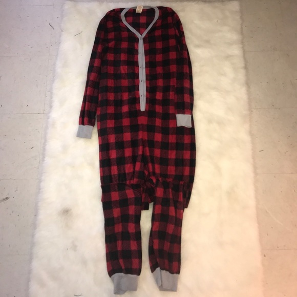 Faded Glory Other - Red Plaid Christmas Onesie