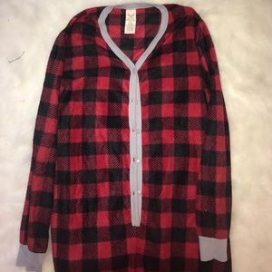 Faded Glory Intimates & Sleepwear - Red Plaid Christmas Onesie