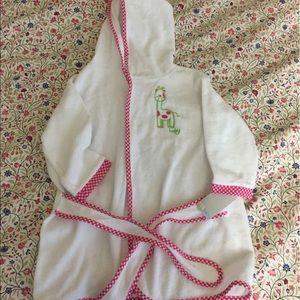 Other - Baby bathrobe terrycloth 100% cotton NWT girl 1siz