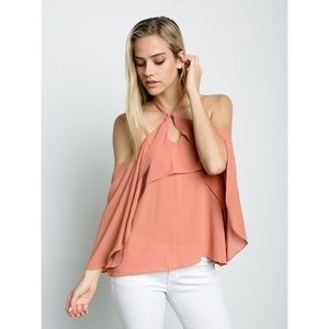 Peach Off The Shoulder Top *NEW*