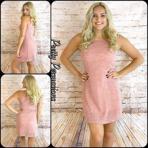 CLEARANCE🎉 NWT Salmon Slub Knit Lined Dress