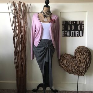 Dresses & Skirts - Gray sarong style skirt w/mini underneath