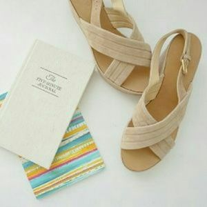 J. Crew Shoes - J. Crew Marcie Suede leather platform sandals