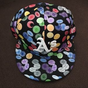 🎉HP🎉 Multicolored Oakland A's Fitted Hat