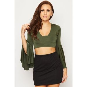 Olive Bell Sleeve Top *NEW*