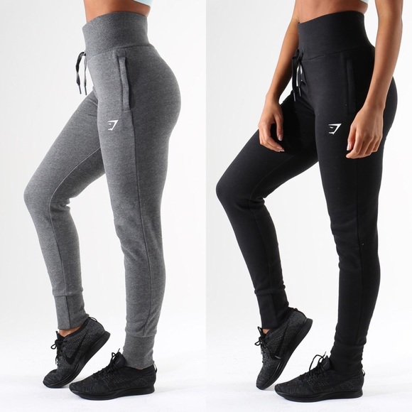 f8192f59198ac Gymshark High waisted Jogger Bundle - BLK and GRY