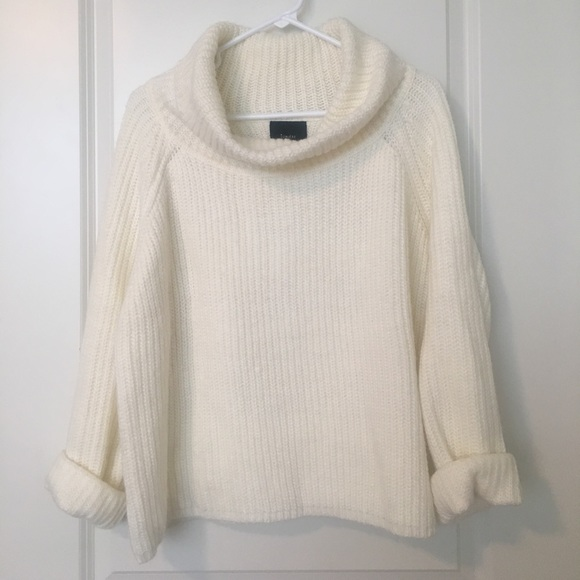 87% off Lumiere Sweaters - Winter white/cream cowl-neck sweater ...