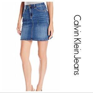 Calvin Klein Jeans Dresses & Skirts - CK Mini Denim utility skirt