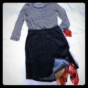 Zac Posen Dresses & Skirts - ZAC POZEN Black Denim Jeans  Skirt