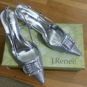 J. Renee Shoes - J. Renee Silver Pump