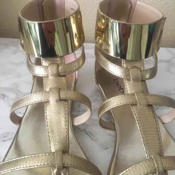 bebe Shoes - 🚫SOLD🚫Bebe Gold Sandals