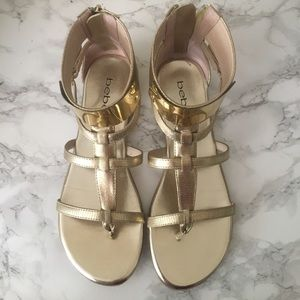 *BRAND NEW* Bebe Gold Sandals