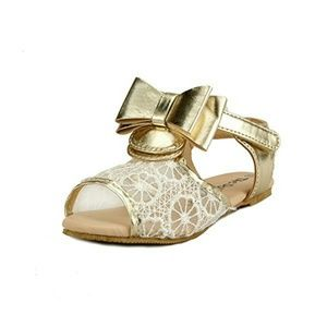 Other - Gold Bow Sandals
