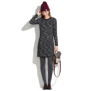 Madewell Black Grey Marled Contrast Dress XS