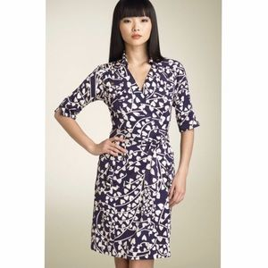 DVF Fuller Heart Print Wrap Dress NWOT