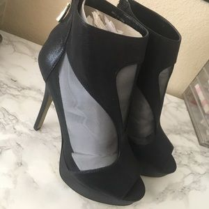 Bebe Mesh High Heels