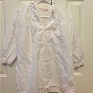 White Kayce Hughes shirt. Size 10.