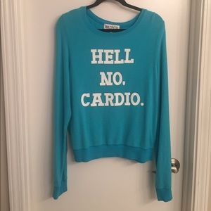 NWOT Wildfox Hell No Cardio Sweatshirt