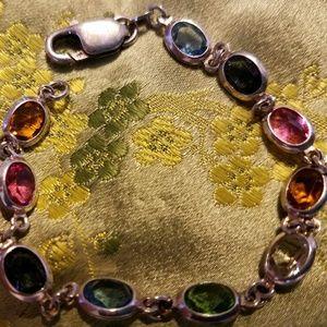 Jewelry - SS MULTI STONE PRECIOUS STONE BRACELET