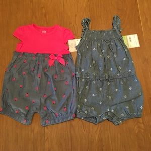 Carter's Other - Two Baby Girl 3M Carter's Rompers