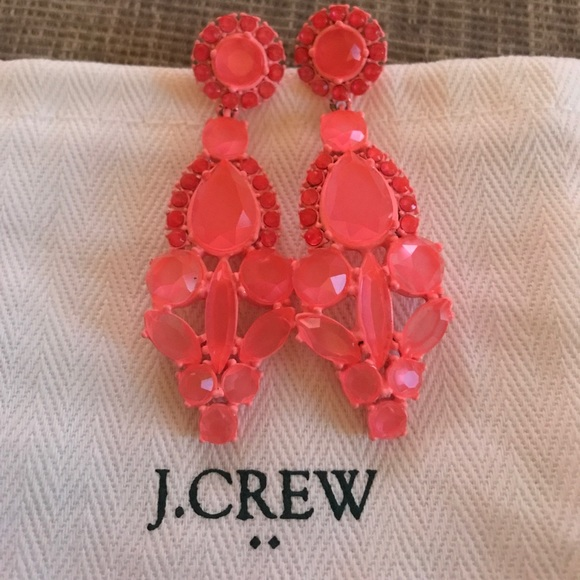 pretty girls rhinestone the accessories earrings neon pink all one cross