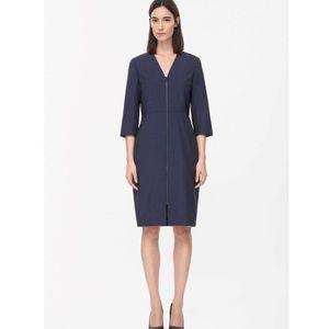 COS Dresses & Skirts - NWT COS Zip-Up Wool Dress in Dark Blue