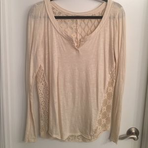 Free People Cream Henley