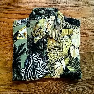 Tops - 90's Safari Button-Down Shirt