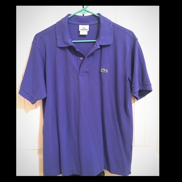 80 off lacoste tops lacoste polo shirt purple size for Lacoste size 4 polo shirt