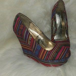 Women's Colorful Wedge Heels