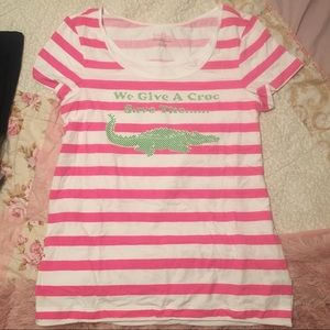 Lilly Pulitzer We Give a Croc t-shirt