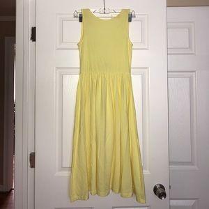 ASOS Yellow Midi Sleeveless Dress 0