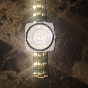 Kate spade watch , gold band