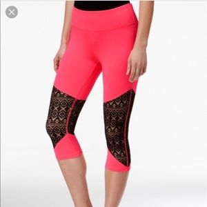 Material Girl Pants - NWT 🎉Material Girl lace-inset cropped leggings