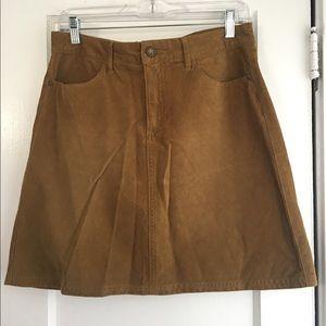 *NWOT* PRANA Tan Corduroy A-Line Skirt