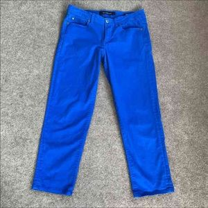 Calvin Klein Blue Skinny Crops