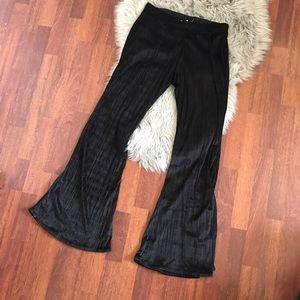 Band of Gypsies Pants - Band of Gypsies black velvet flare pants