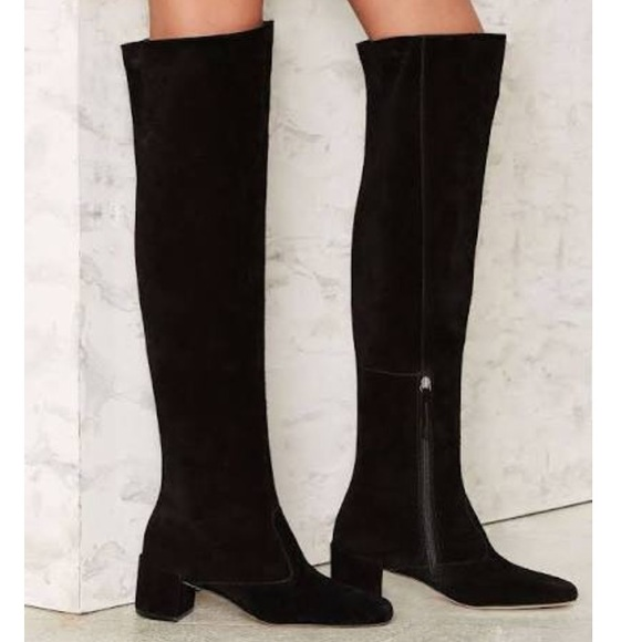 7f37a8b00e1 Matisse Over The Knee OTK Faux Suede Boots. M 5913c0e4eaf0300b2500976f