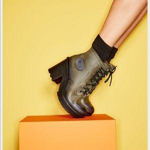 Hunter Boots Shoes - Hunter Bullseye Lace Up Block Heel Booties