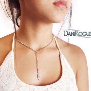 Dani Rogue Jewelry - DaniRogue Feather Choker Necklace