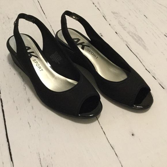 c19b13c52f8a Anne Klein Sport Shoes - Jayla Peep - Toe Low Wedge Sandals