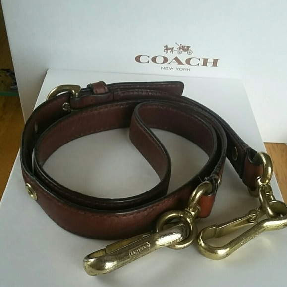 64447e7c585 Coach Crossbody Replacement strap Brown Leather